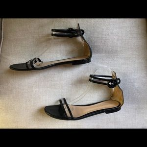 Gianvito Rossi Sandals Black Ankle Strap Clear PVC